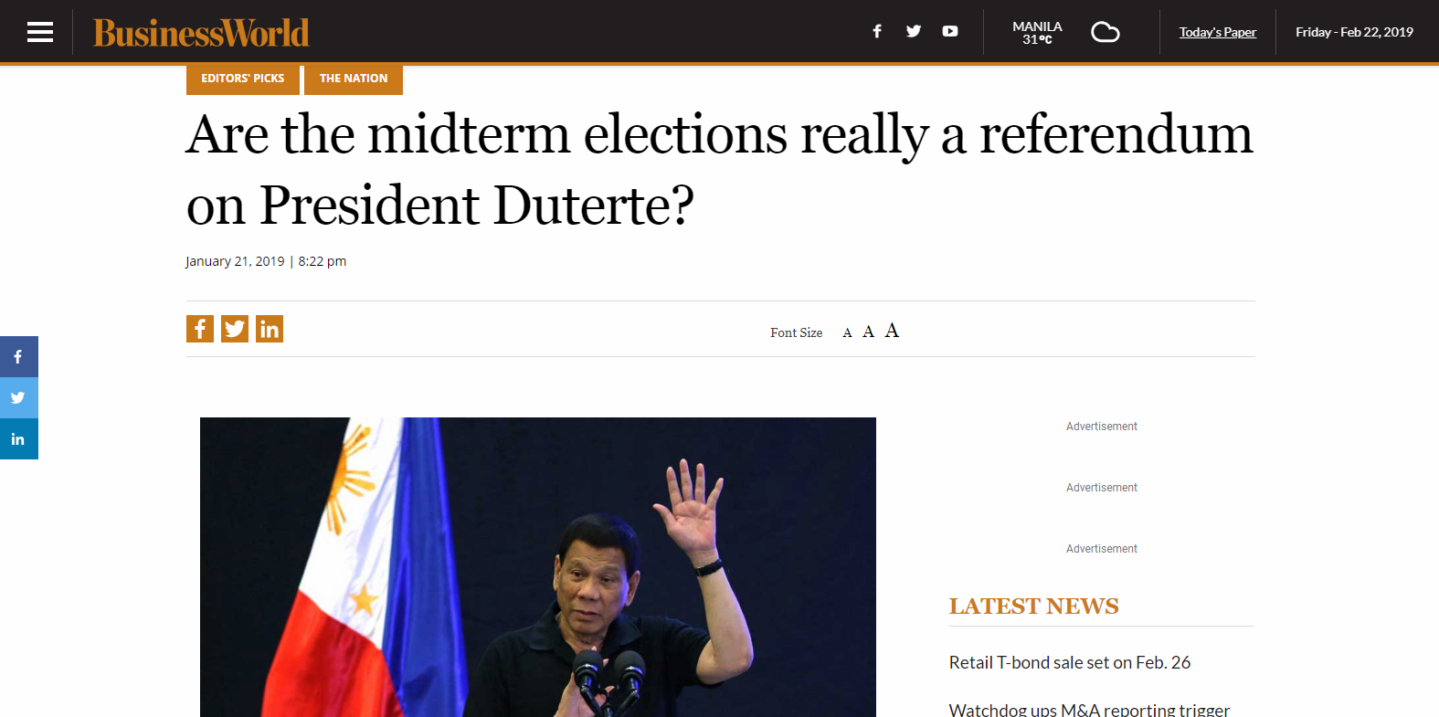 Are the midterm elections really a referendum on President Duterte?