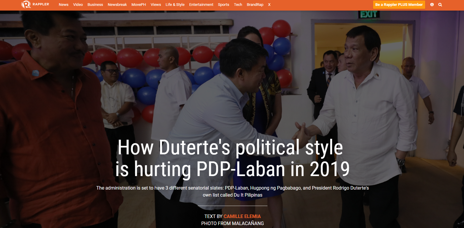 How Duterte's political style  is hurting PDP-Laban in 2019