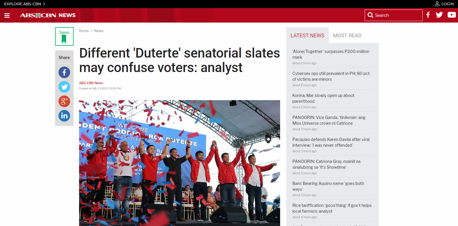 Different 'Duterte' senatorial slates may confuse voters: analyst