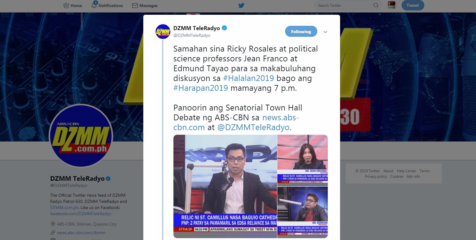 On the Halalan 2019 Senatorial Debate