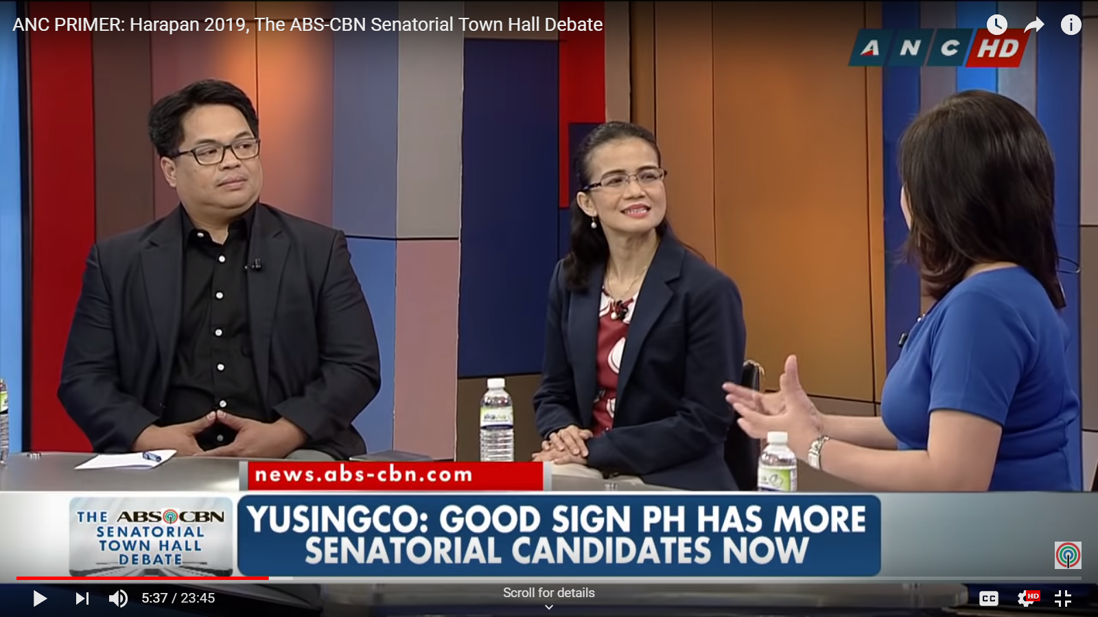 Pre-debate discussion of ANC's #Harapan2019