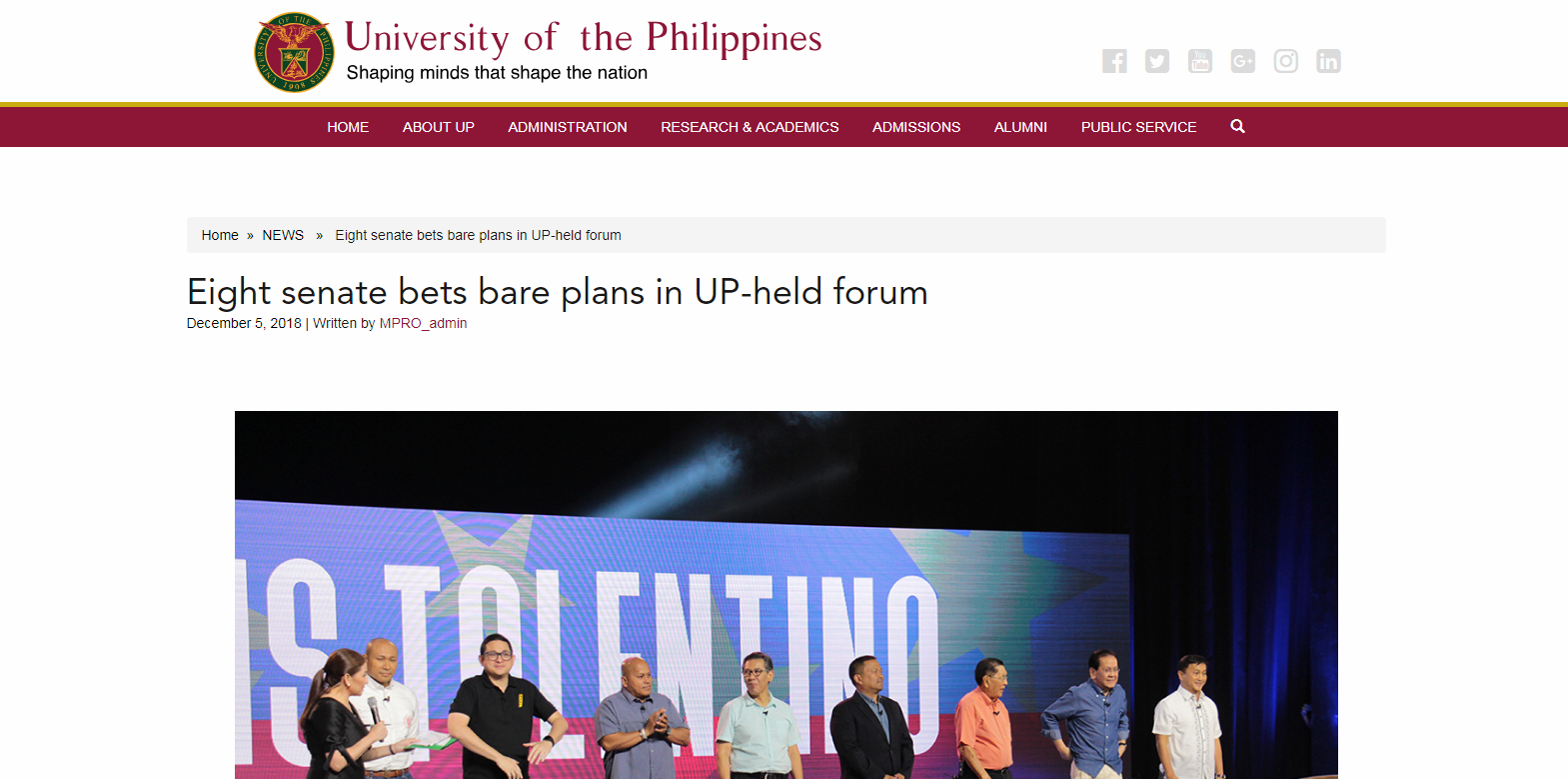 Eight senate bets bare plans in UP-held forum