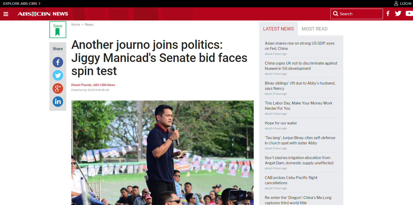 Another journo joins politics: Jiggy Manicad's Senate bid faces spin test