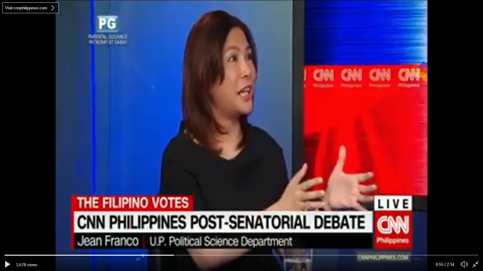 Post-senatorial debate analysis of CNN Philippines' The Filipino Votes