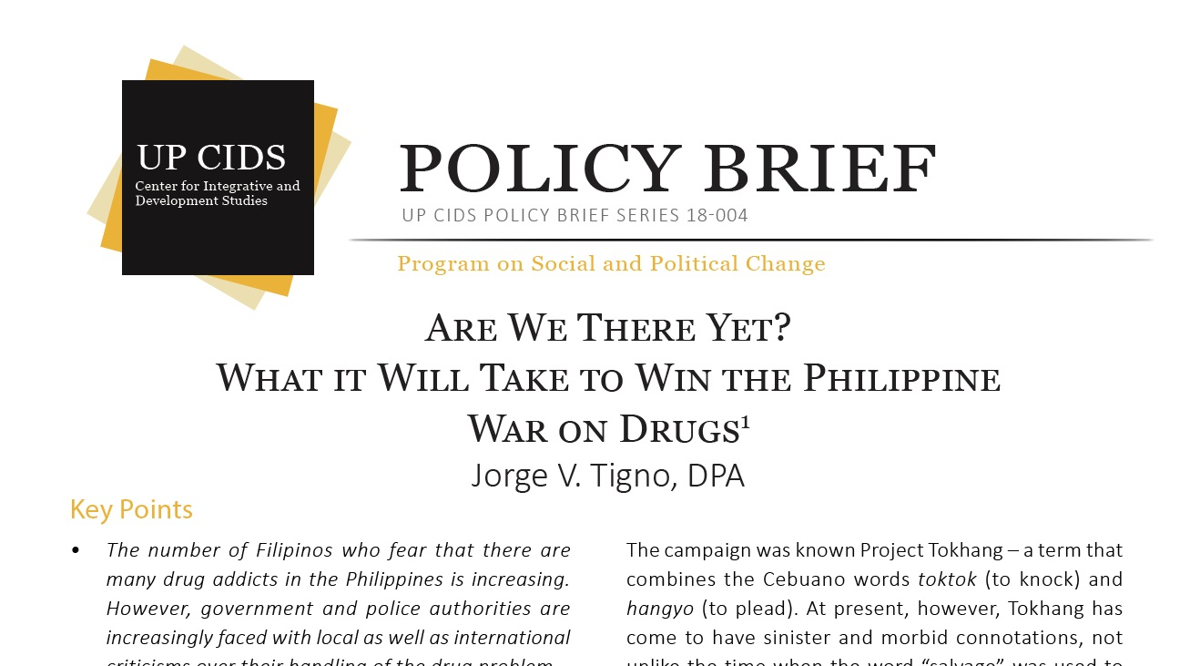 Are We There Yet? What It Will Take to Win the Philippine War on Drugs (2019)