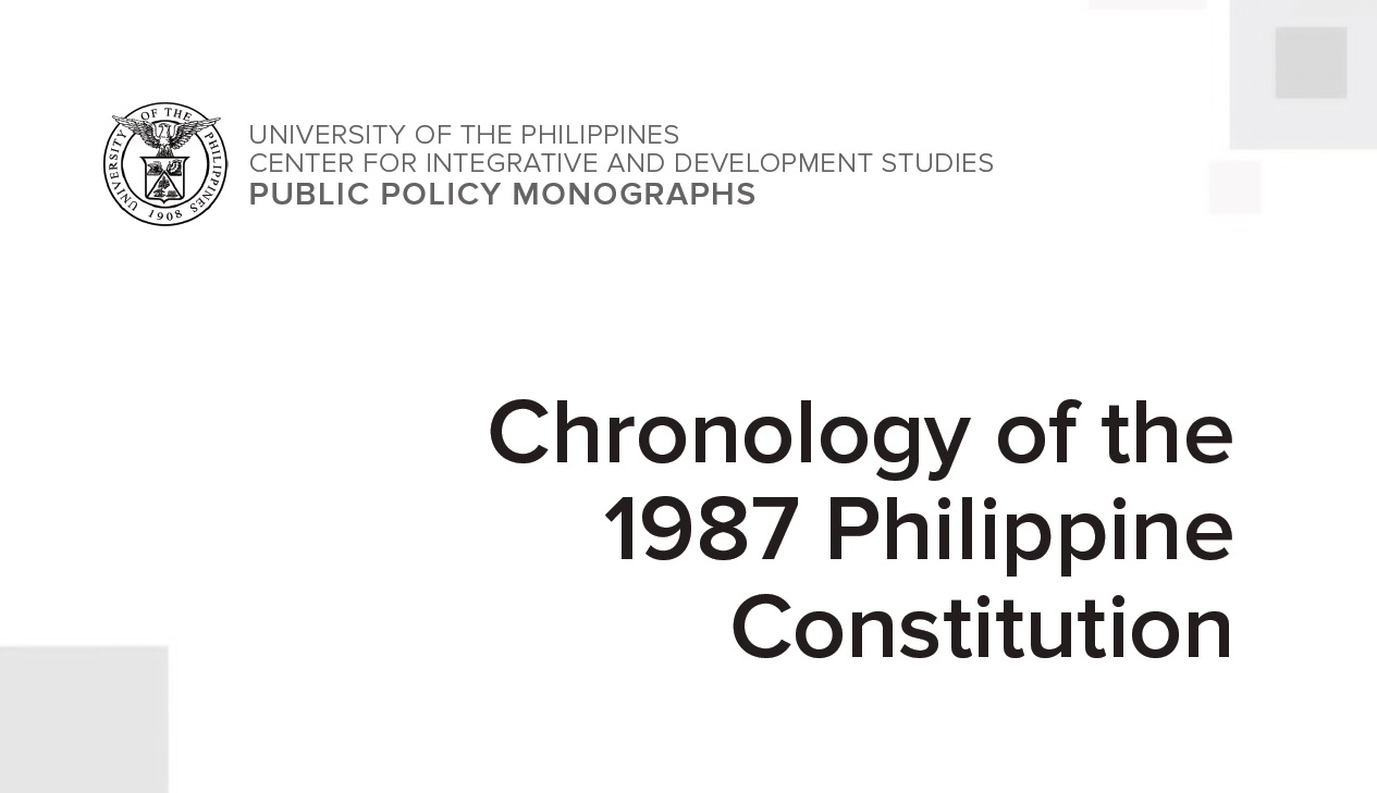 Chronology of the 1987 Philippine Constitution (2019)