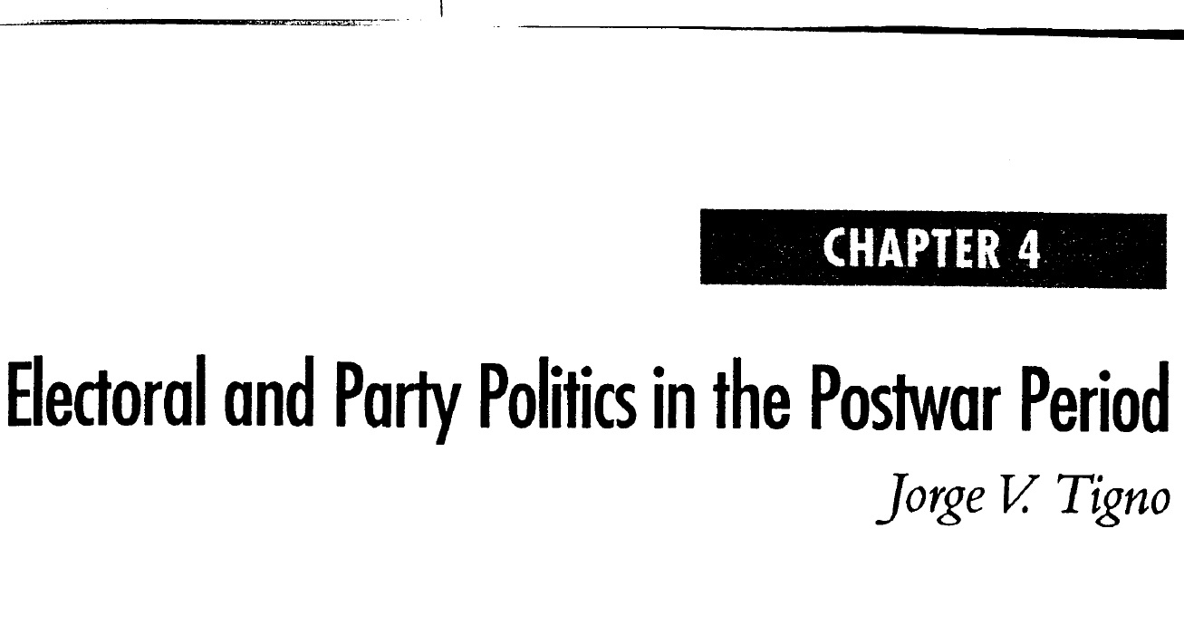 Electoral and Party Politics in the Postwar Period (2006)