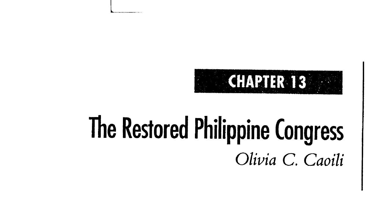The Restored Philippine Congress (2006)