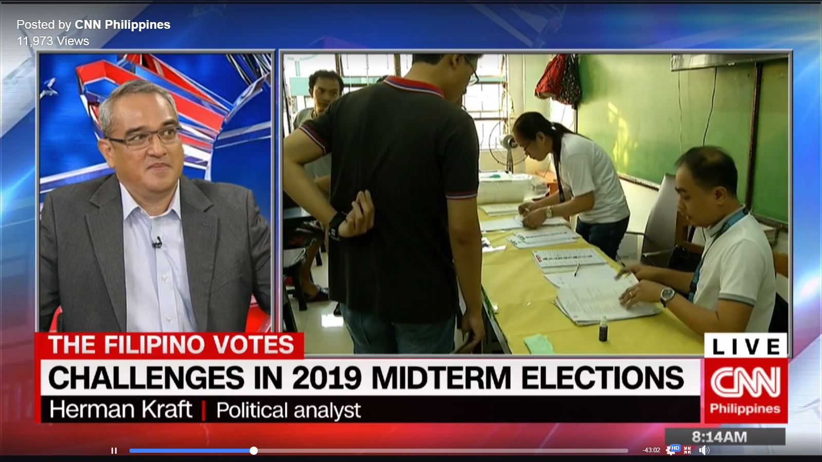 CNN Philippines: Assoc. Prof. Herman Kraft