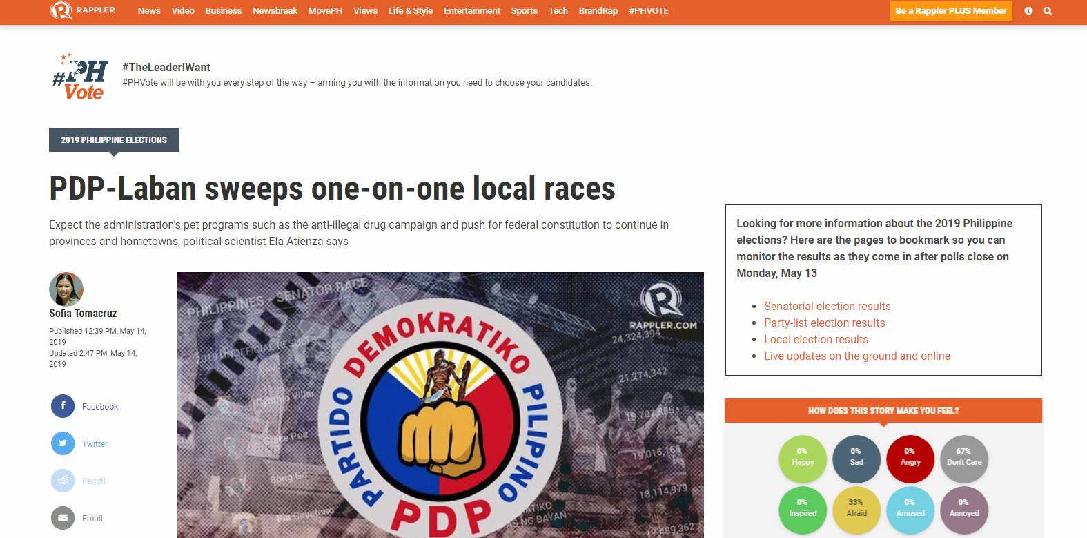 PDP-Laban sweeps one-on-one local races