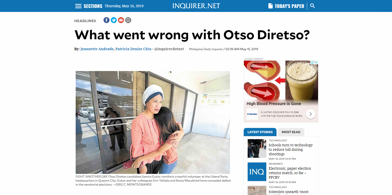 What went wrong with Otso Diresto?