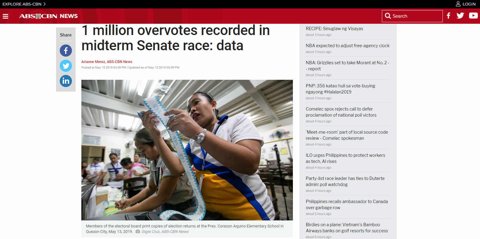 1 million overvotes recorded in midterm Senate race: data