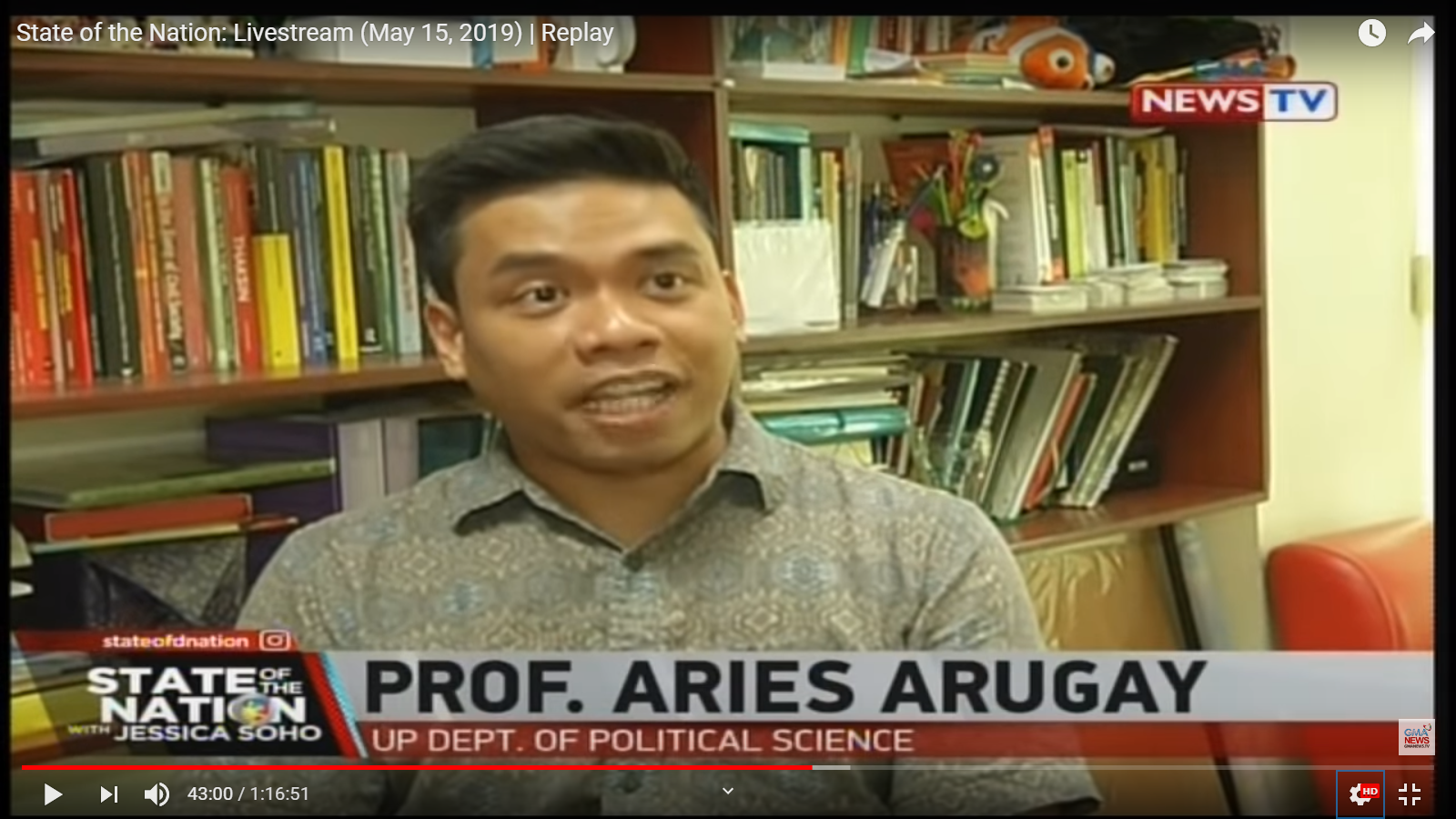 State of the Nation: Dr. Aries Arugay