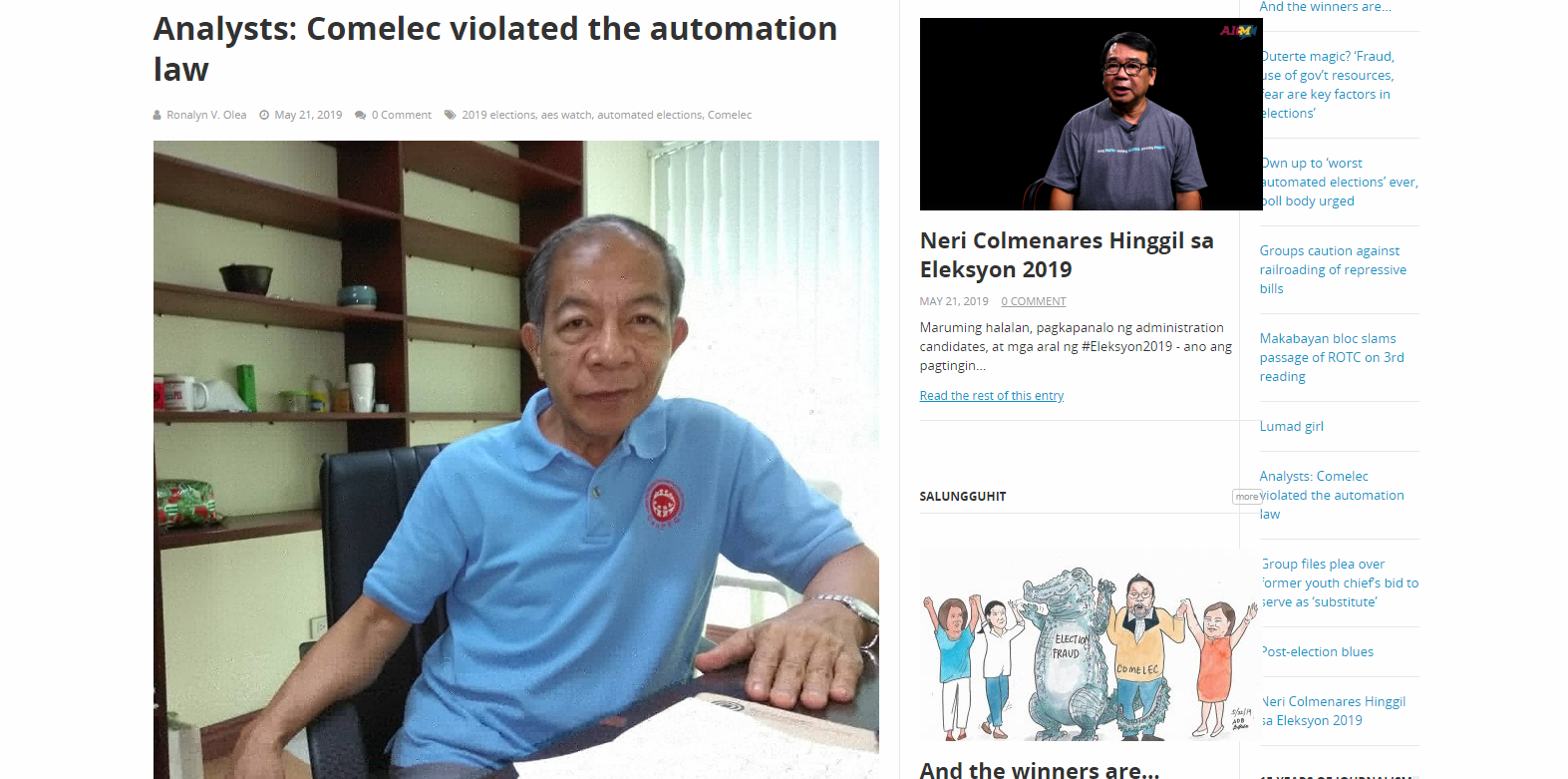 Analysts: Comelec violated the automation law