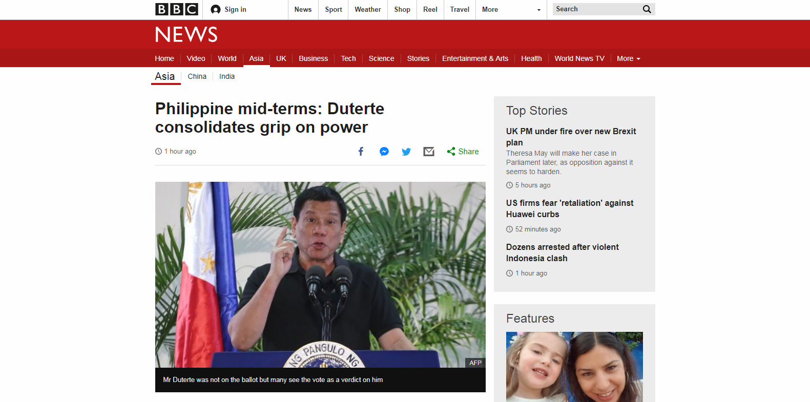 Philippine mid-terms: Duterte consolidates grip on power